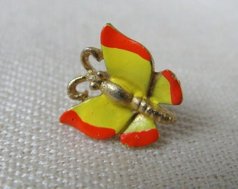 Vintage 1960s Pin 60s Butterfly Scatter Pin Tiny Yellow Butterfly