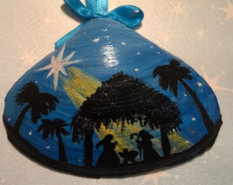 Nativity Painted Shell