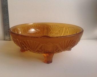 Art Deco glass fruit bowl 1930's