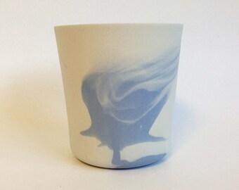 coloured-blue  porcelain vessel
