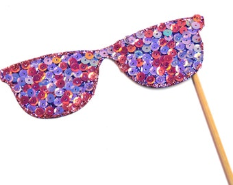Photo Booth Props - Deluxe Pink Purple Sequin Glasses  Photo Booth Props