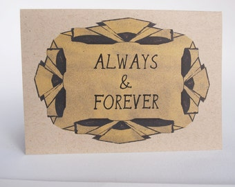 Greeting Card- Always and forever, deco fans