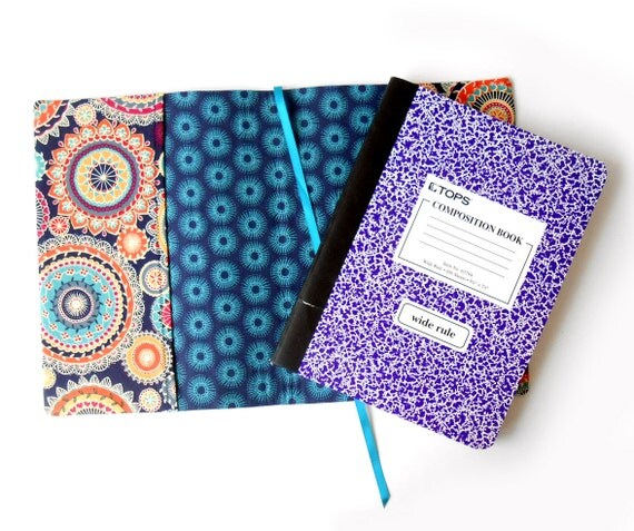 Composition Book Cover Sewing Pattern ~ Composition book cover pattern and tutorial notebook