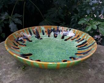 Hand thrown serving/fruit bowl (large).