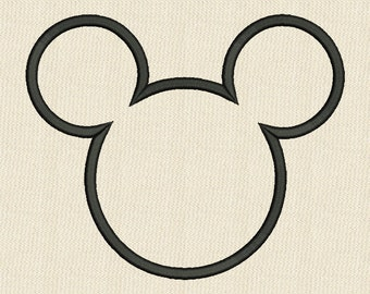 Mickey Mouse Head APPLIQUE Embroidery Design Disney