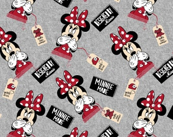 Disney Designed by Minnie Knit - cotton spandex head toss grey background springs creative