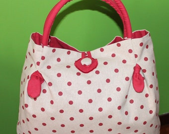Tote bag with rigid handles