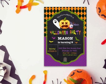 Halloween word invite_2,INSTANT DOWNLOAD - Edit Yourself in Word. Template Editable Text Microsoft Word.DIY You Print.