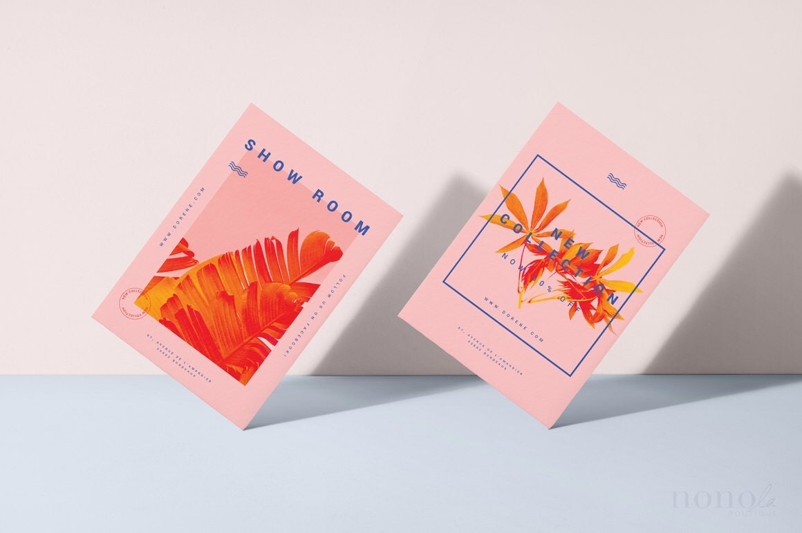 Modern Postcard 2pk Template Fashion Flyer Bold Magazine