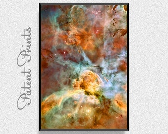 Carina Nebula Poster, Space Art Print, Space Wall Art, Astronomy Poster, Universe Art, Universe Print, Kids Room Wall Decor