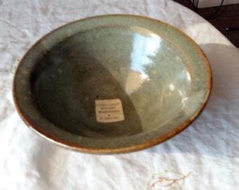 Green Glazed Clay Bowl