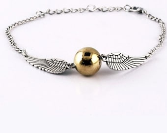 Golden Snitch Bracelet // Silver & Gold // Hogwarts Harry Potter Ron Weasley Fandom