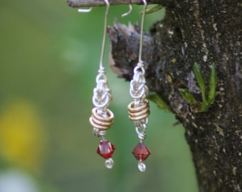 rolling chainmail earrings