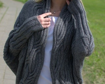 Knit cardigan. Women cardigan. Knitted cardigan. Coat. Knitted coat