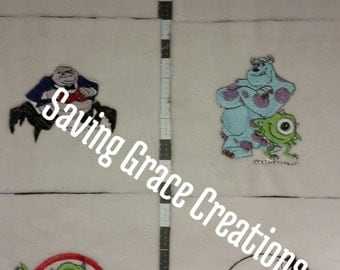 Monster Inc Embroidery Squares