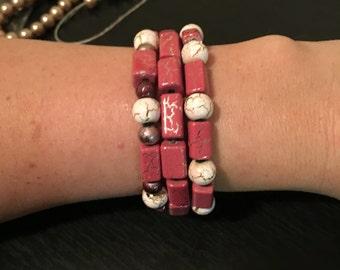Pink & white bracelet
