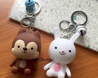 Descendants Of The Sun Neukkun and Hayang Keychains | Free Shipping