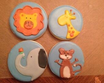 Jungle Theme Sugar Cookies