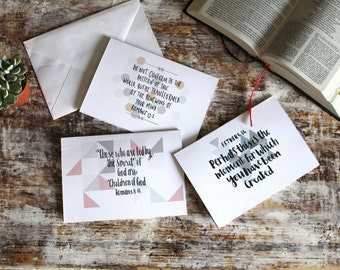 Geometric Scripture Occasional Cards (pack of six)