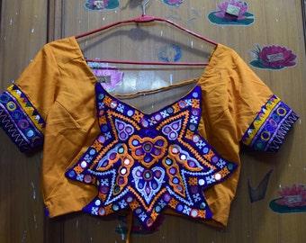 unique crop top or blouse