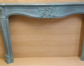 Antique Italian Hand Carved Provencial Mantel