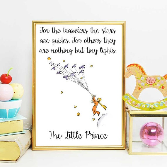 20 Important Quotes From The Little Prince: The Little Prince Print Little Prince Stars Quote The Little
