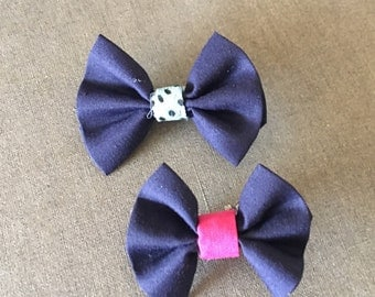 Mini Bows, Navy with Random middle piece
