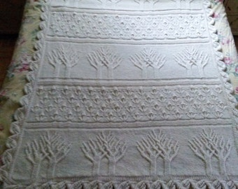 Tree of Life Knitted afghan