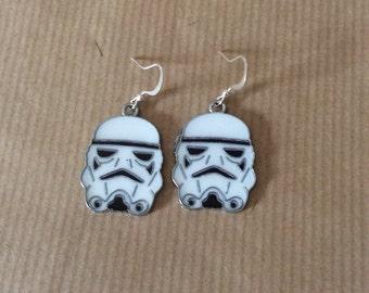 Storm trooper earrings