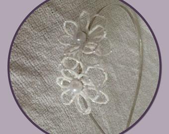 Beaded daisy tiara
