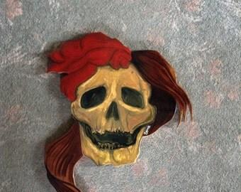 Gothic skull wall art