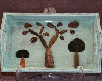 Rock Art - Trees made out of stones