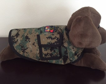 US Marine Camo Dog Jacket
