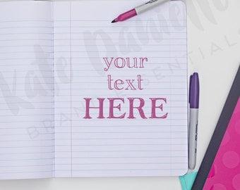 Back to School styled social media photo | Notebook image | Styled Stock Photo | Styled Photo | Styled Photography | Website Stock Photo