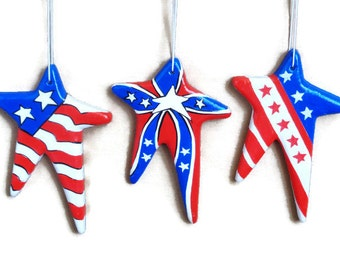 July 4th and Memorial Day Ornament Set