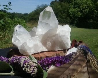 Large Quartz Crystal Cluster