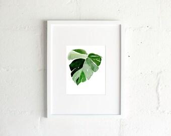 The Split Leaf Watercolor Print