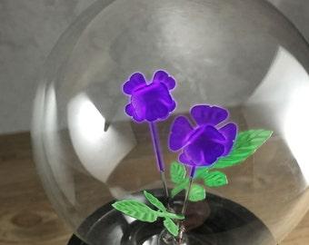 DarkSteve - Violet - Designer Light Bulb - Edison Style G80 E26 or E27 Screw Filament Decorative Light Bulbs  #1 Unique Gift