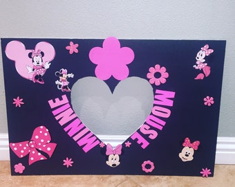 Minnie Mouse photo frame, Minnie Mouse, photo props, party decorations