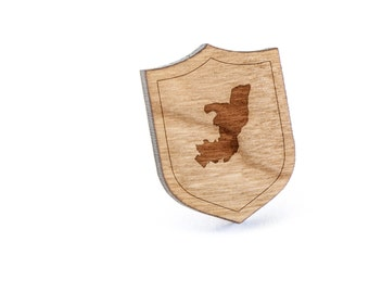 Republic Of Congo Lapel Pin, Wooden Pin, Wooden Lapel, Gift For Him or Her, Wedding Gifts, Groomsman Gifts, and Personalized
