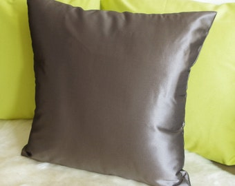 Purple Taupe Pillow Cover - Decorative Pillow Cover - Purple Taupe Polyester Taffeta - Couch Pillow - Throw Pillow - 40x40 cm - 16x16 inch