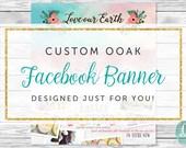Custom Designed Facebook Timeline Cover | Facebook Cover Template | Graphic Design | Shop Branding and Marketing | Unique Professional OOAK