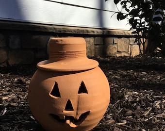 Handmade Georgia Red Clay Pottery Terra Cotta Pumpkin