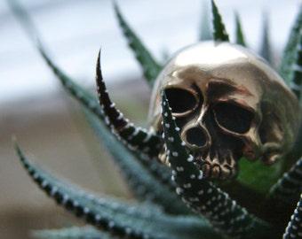 Biker human skull ring, gothic skull ring, statement ring skull, gift for him, gift for her