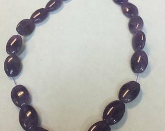 16x12 oval beads Amethyst