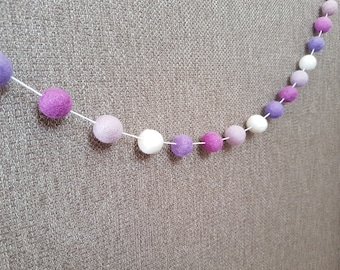 Felt Ball Garland - Purple Ombre