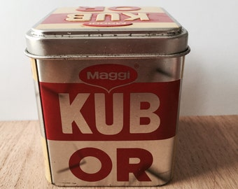 Metal bouillon cube box