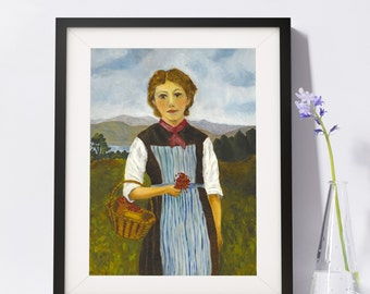 Old Fashioned Country Girl Art Painting PSNY - Home Decor