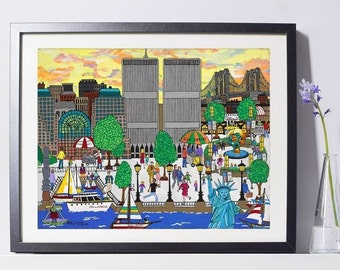 World Trade Center Twin Towers Art Painting PSNY - Home Decor
