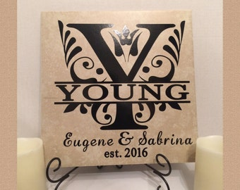 Personalized Tiles - Custom Wedding Gift - Housewarming Gift